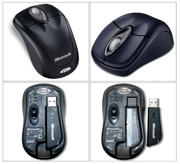 Microsoft BX3-00008 Wireless Notebook Optical Mouse 3000 - Slate