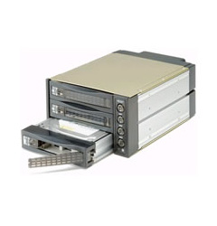 "Istar BPU-230SATA  2/5.25"" bay to 3/3.5"" HD SATA2.0 Hot-Swap Bac"